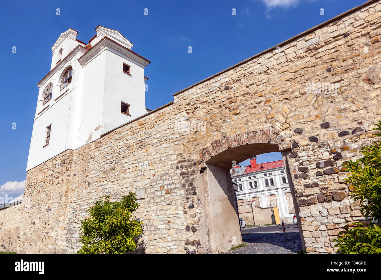Jesuit Observatory, part of the fortifications, Litomerice, Northern Bohemia, Czech Republic - Stock Image
