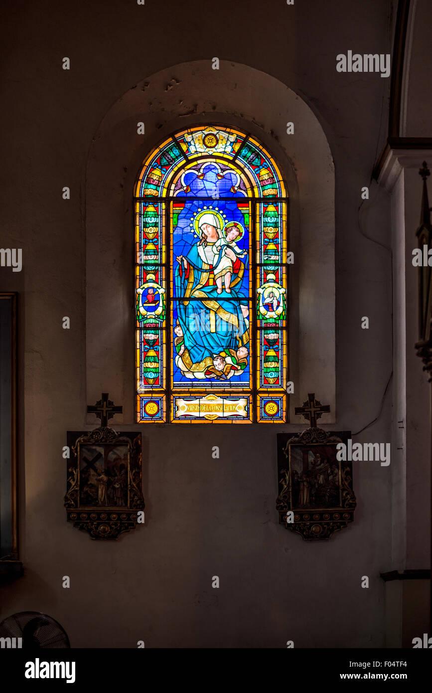 PANAMA CITY, Panama--Iglesia San Jose is in the heart of Casco Viejo, the historic old quarter of Panama City, Panama. Stock Photo