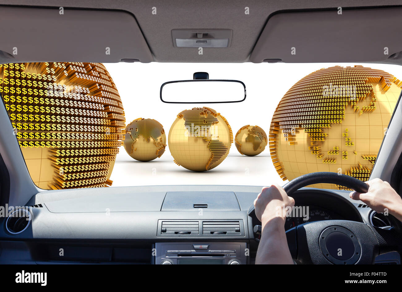 Driving in the money world - Stock Image
