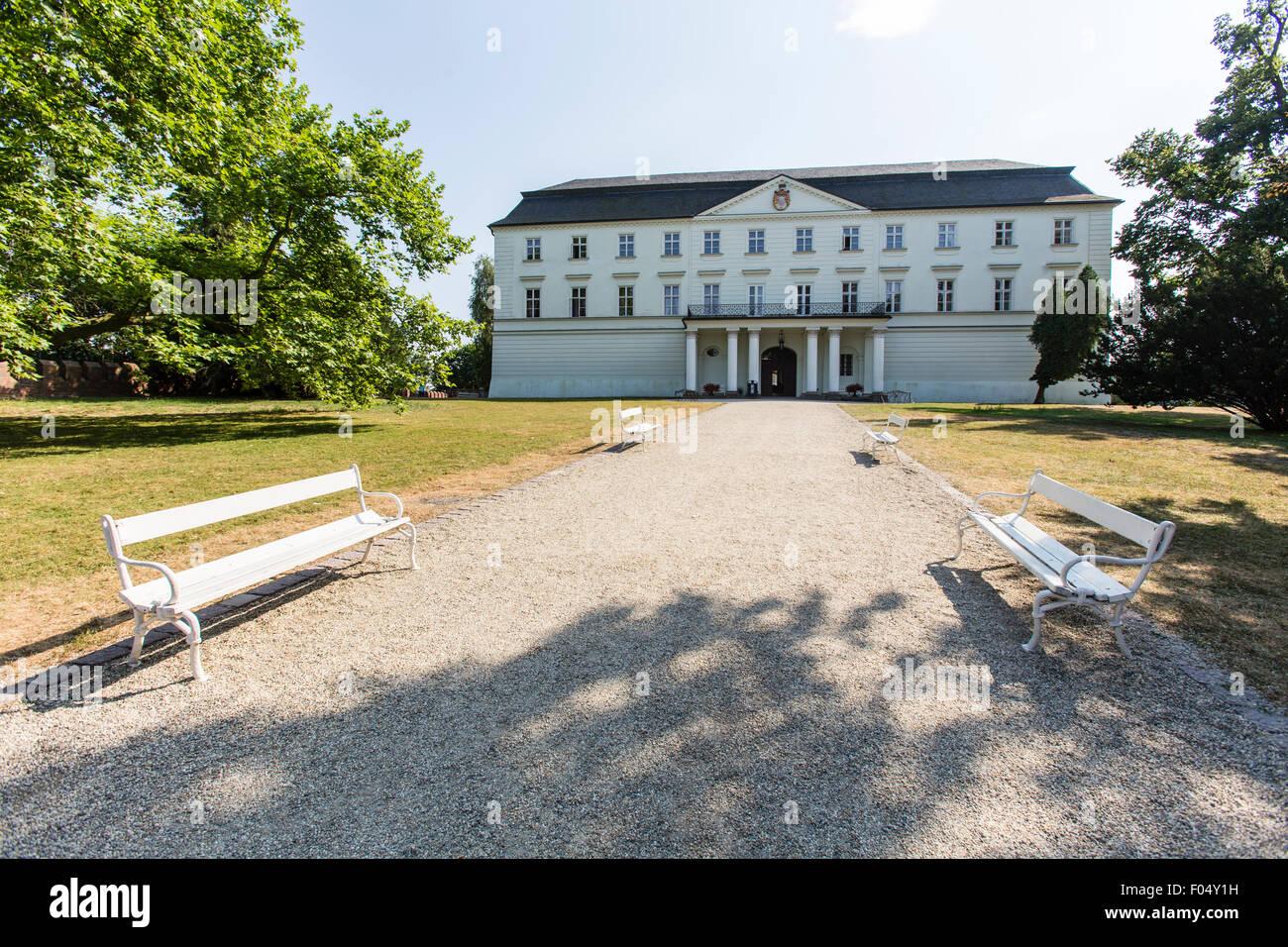 castle, chateau, classicism, sight, cultural heritage site, Hradec nad Moravici, Silesia - Stock Image