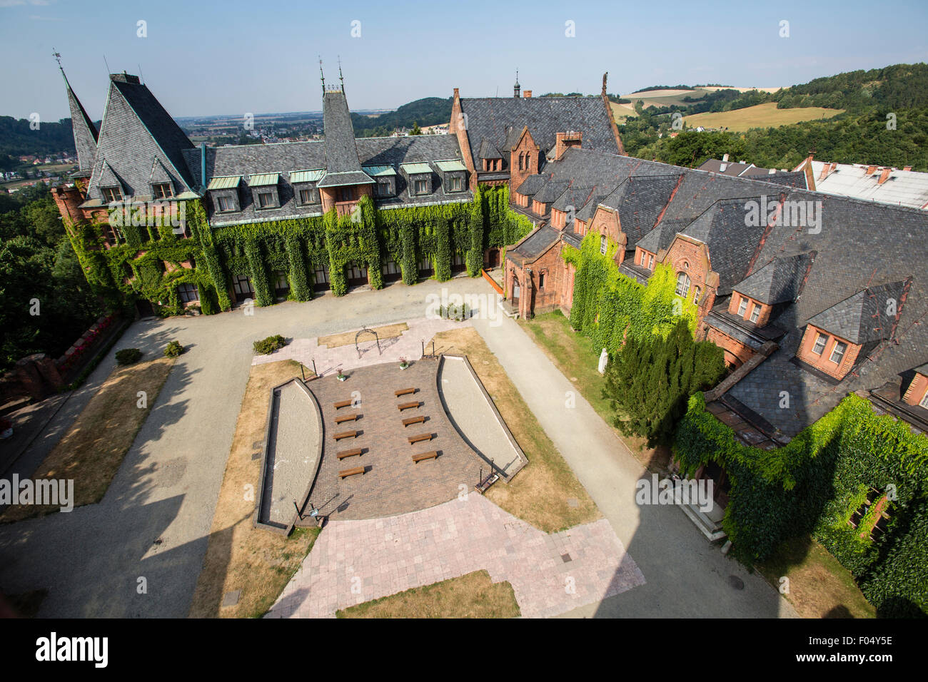 The Red Castle, castle, chateau, classicism, sight, cultural heritage site - Stock Image