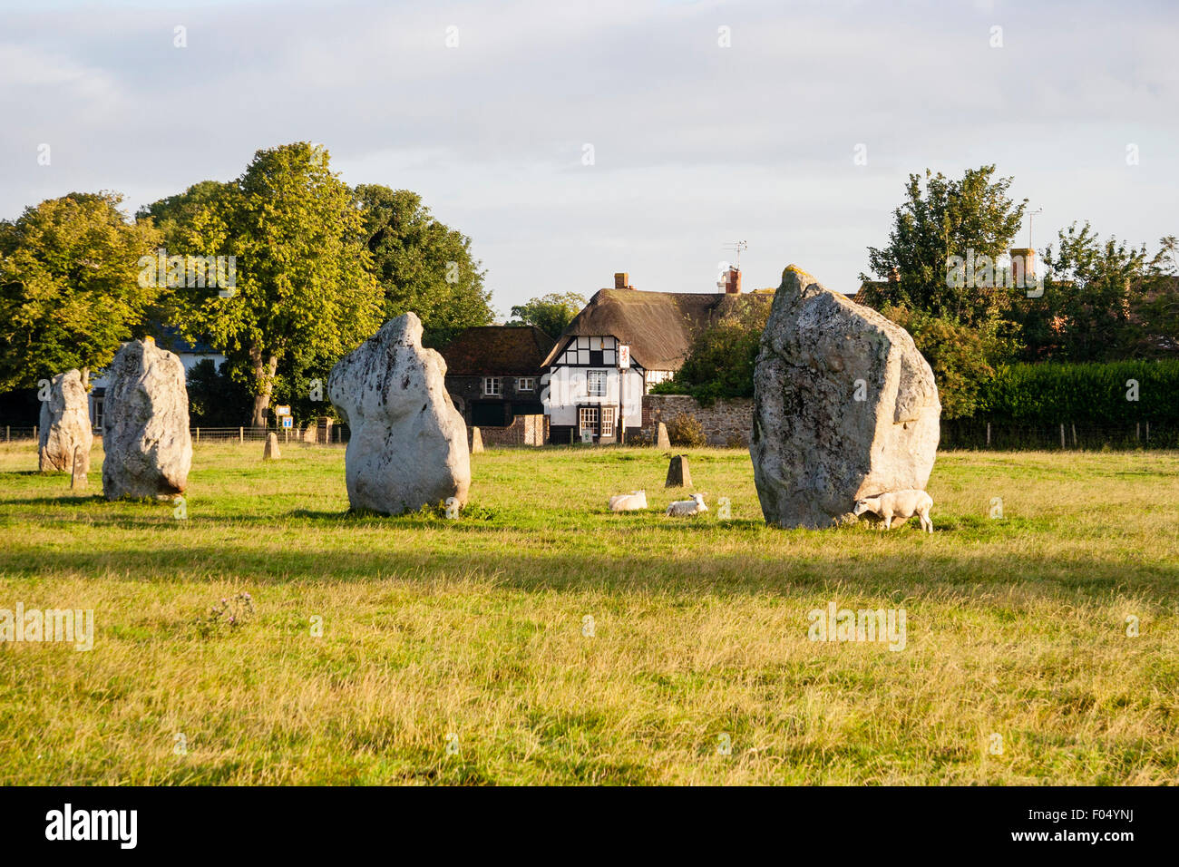 Neolithic Avebury Stone Circle Standing Stones Of Southern Inner Stock Photo Alamy