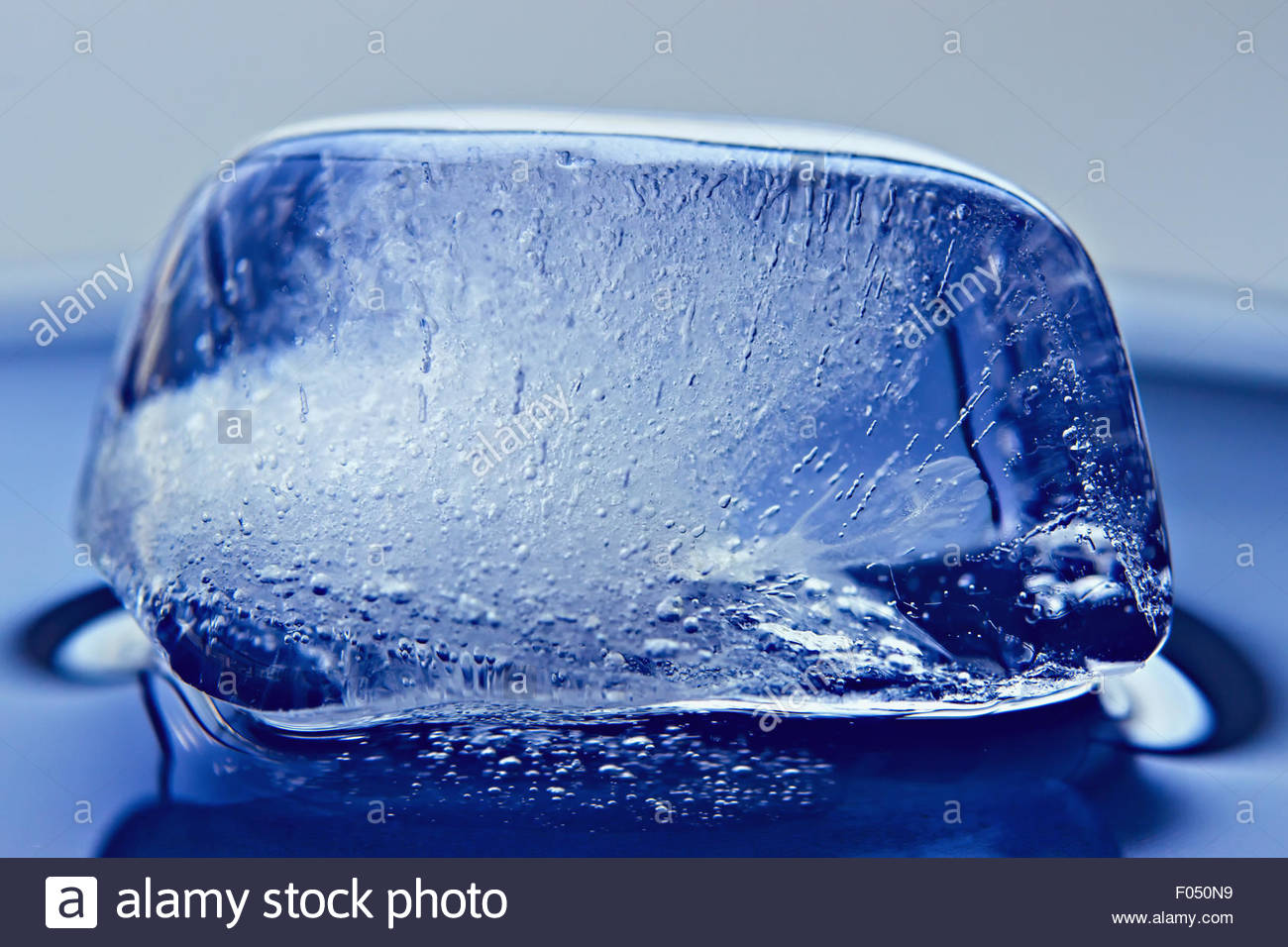 The Frozen Air Bubbles In Ice Cube Background