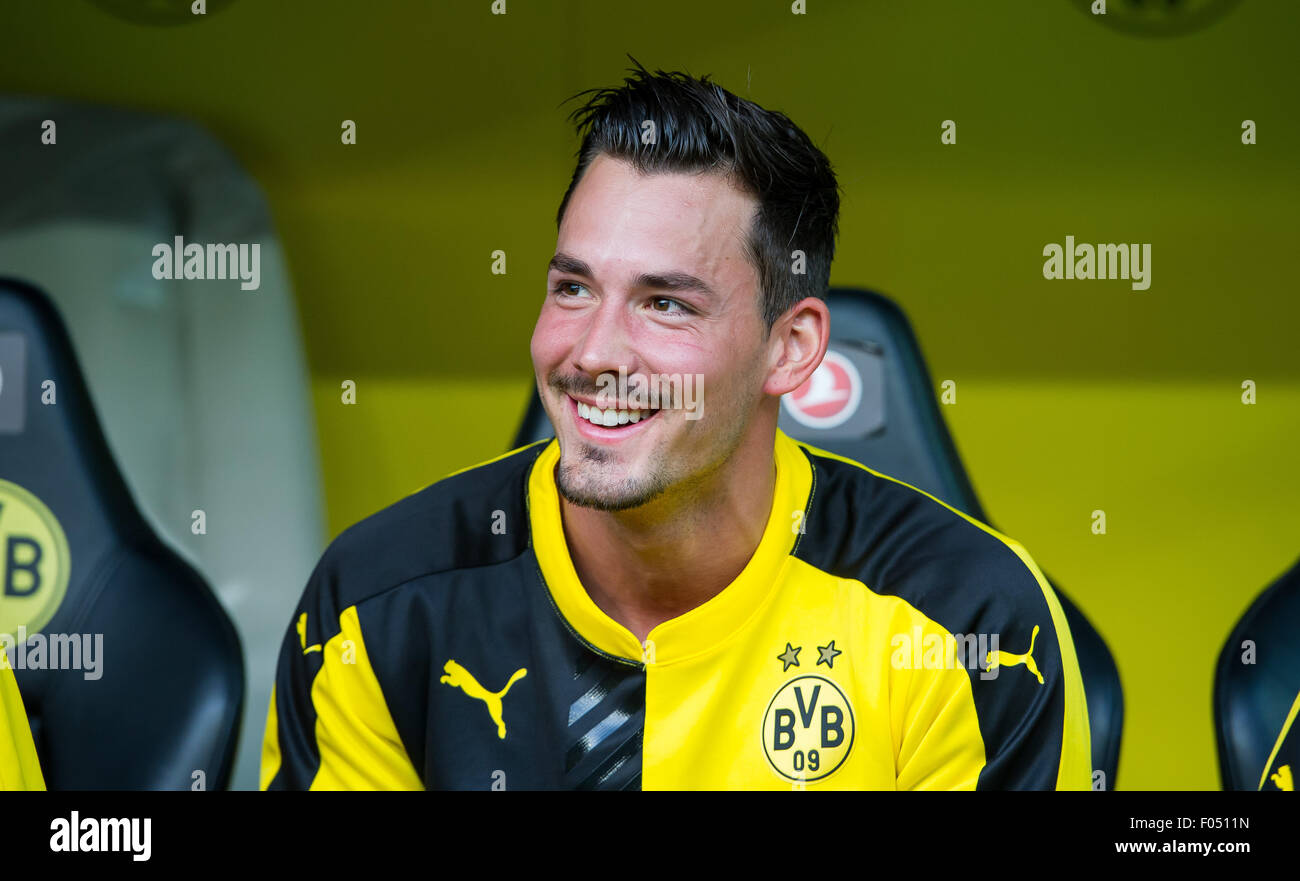 95776a199 Dortmund s goalkeeper Roman Burki sits on the substitute bench during the  Europa League qualifications rematch Borussia Dortmund vs Wolfsberger AC in  ...