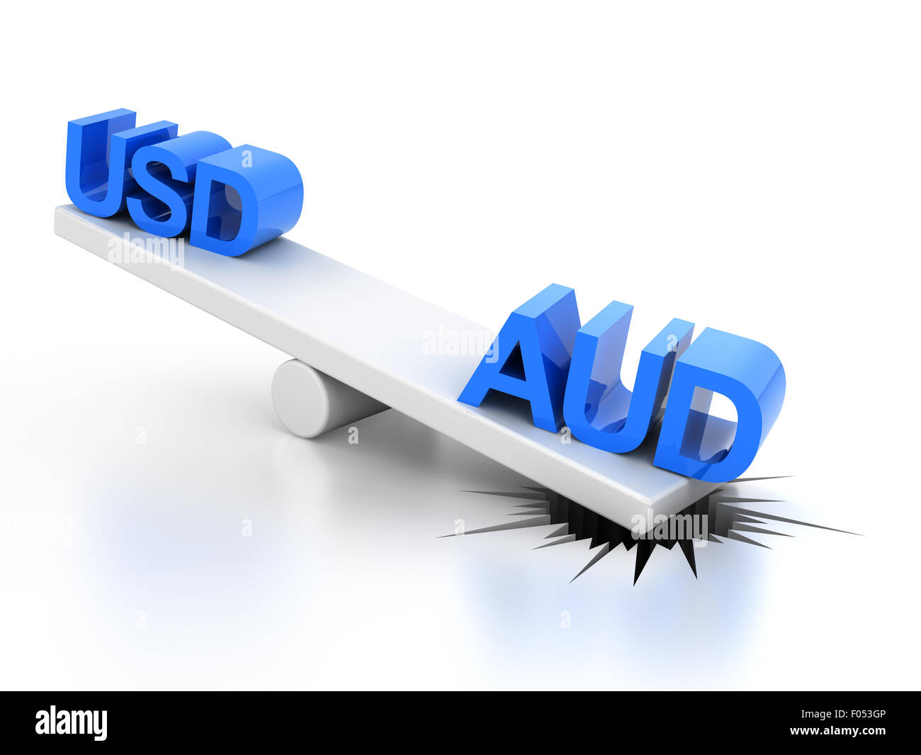 Strong australian dollar concept - Stock Image