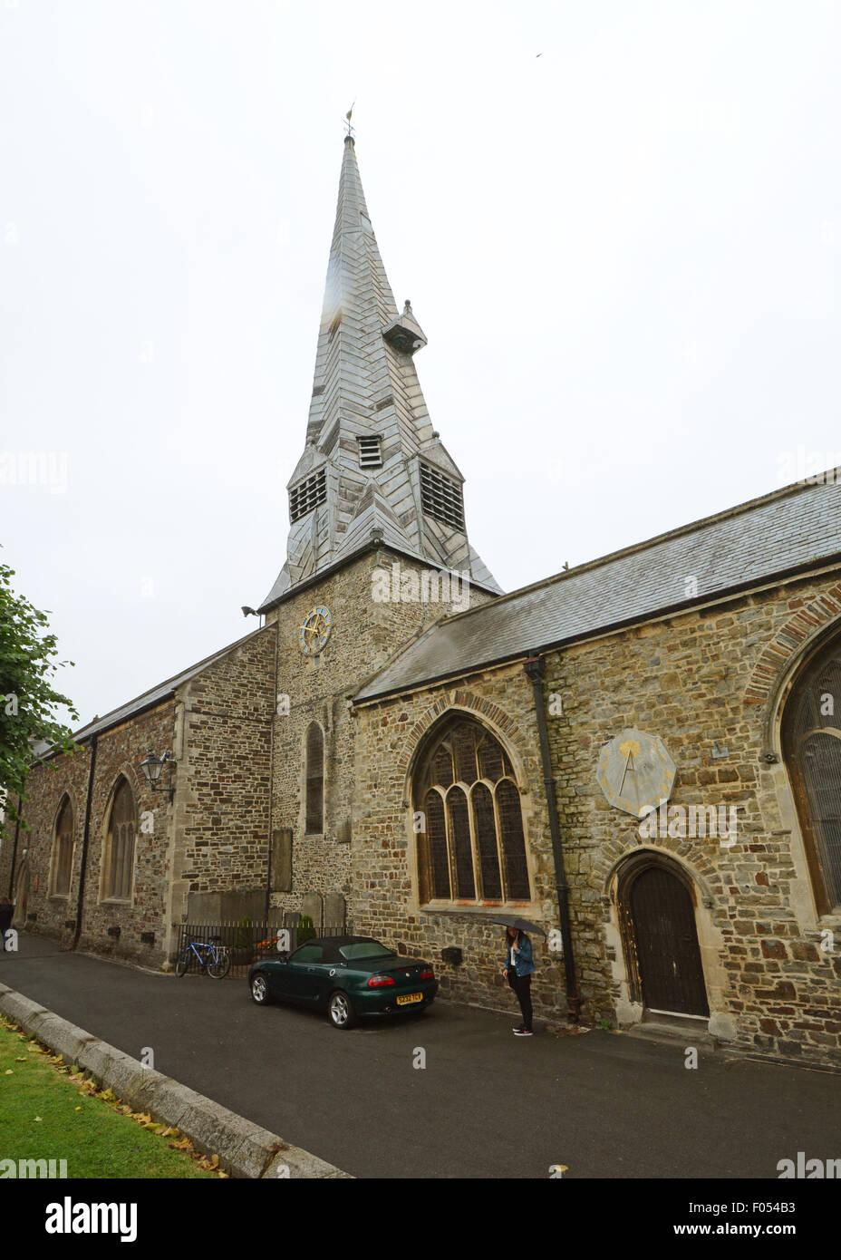 St Peters Church Barnstaple North Devon Parish Church St Peter and St Mary Magdelene - Stock Image