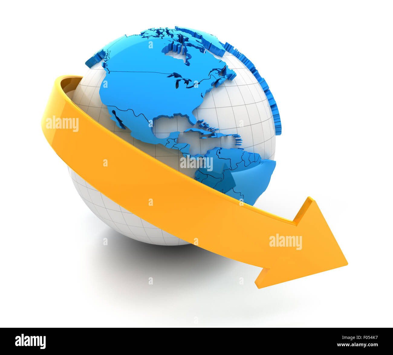 Global decline - Stock Image
