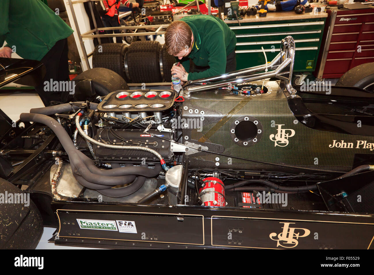 Chapman Used Cars >> An internal view of a Lotus 91/5 Formula One car showing its 3000c Stock Photo: 86165585 - Alamy