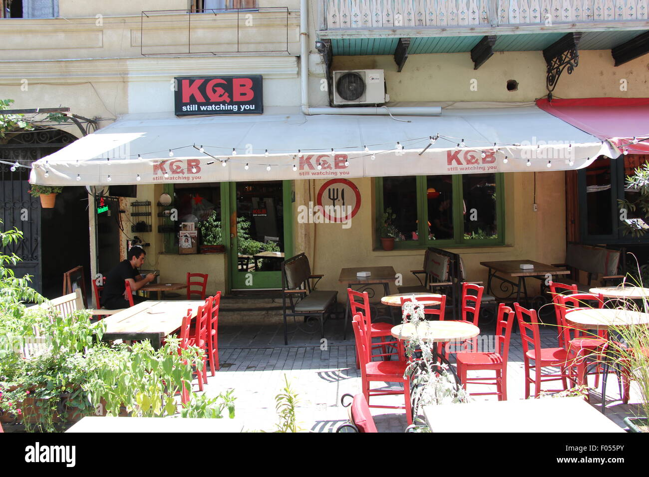 The KGB Bar in Shardin, Tbilisi, Georgia - Stock Image