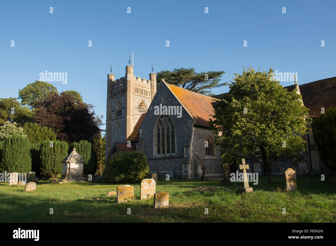 St Marys church, Hambleden, Buckinghamshire, England - Stock Image