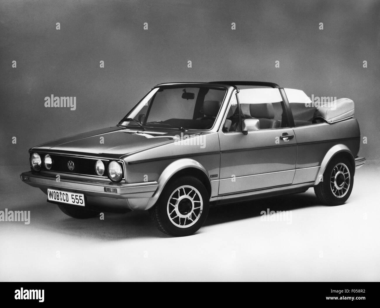 transport / transportation, car, vehicle variants, Volkswagen, VW Golf Mk2 convertible, 1980s, Additional-Rights - Stock Image