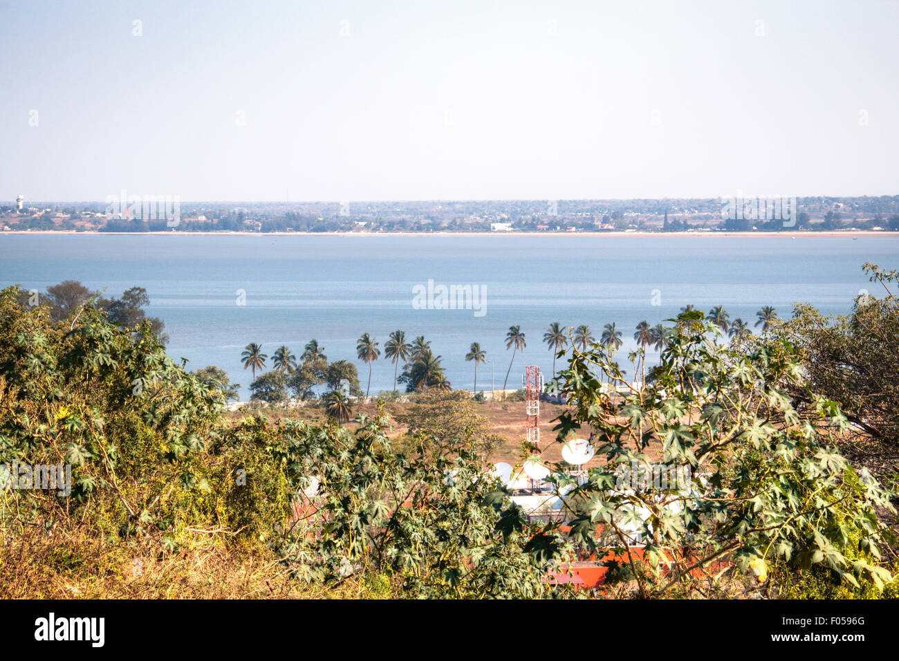 View over the bay of Maputo Stock Photo