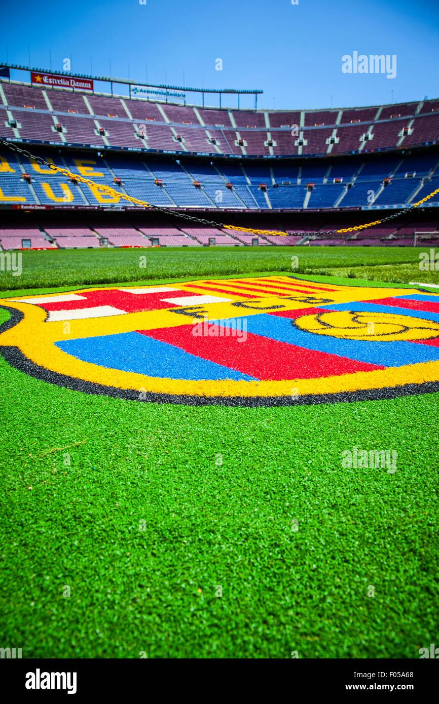 FC Barcelona (Nou Camp) football stadium - Stock Image