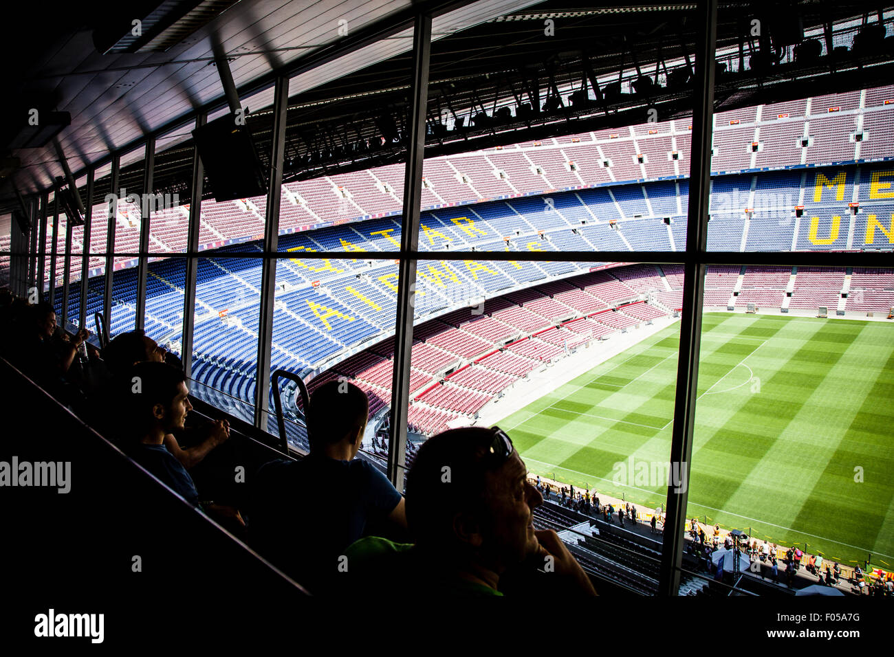 FC Barcelona (Nou Camp) football stadium Stock Photo
