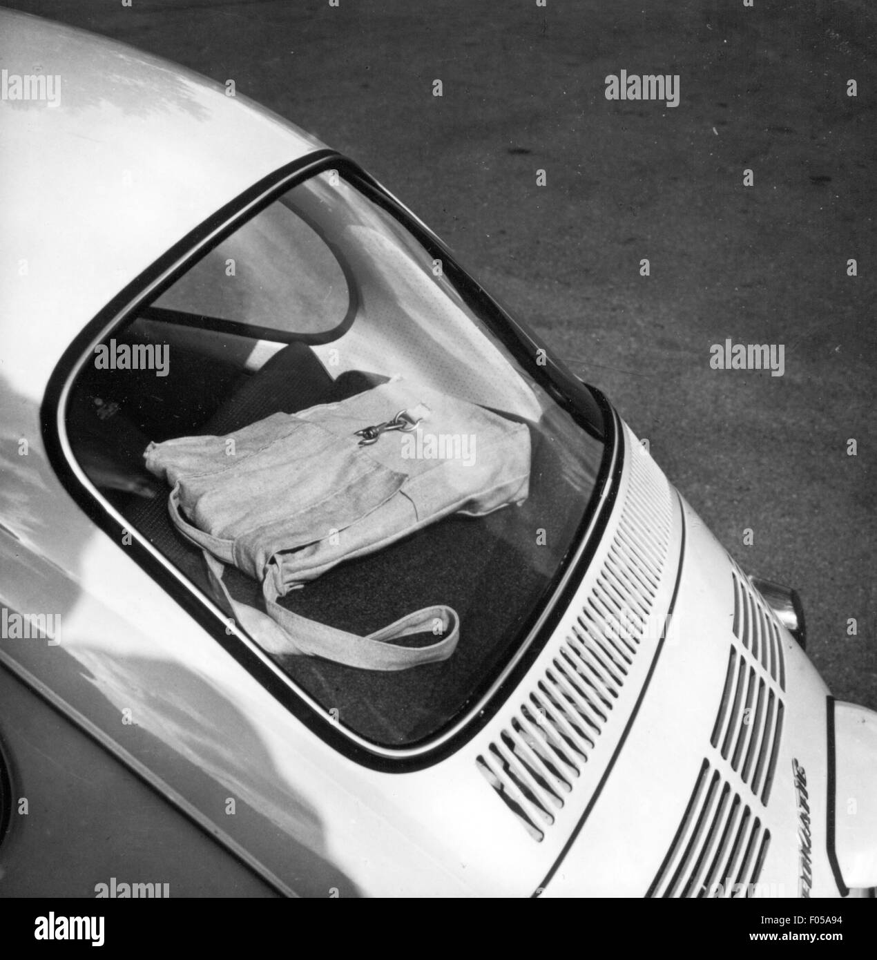 transport / transportation, car, vehicle variants, Volkswagen, VW beetle, rear window and shelf, 1972, Additional - Stock Image