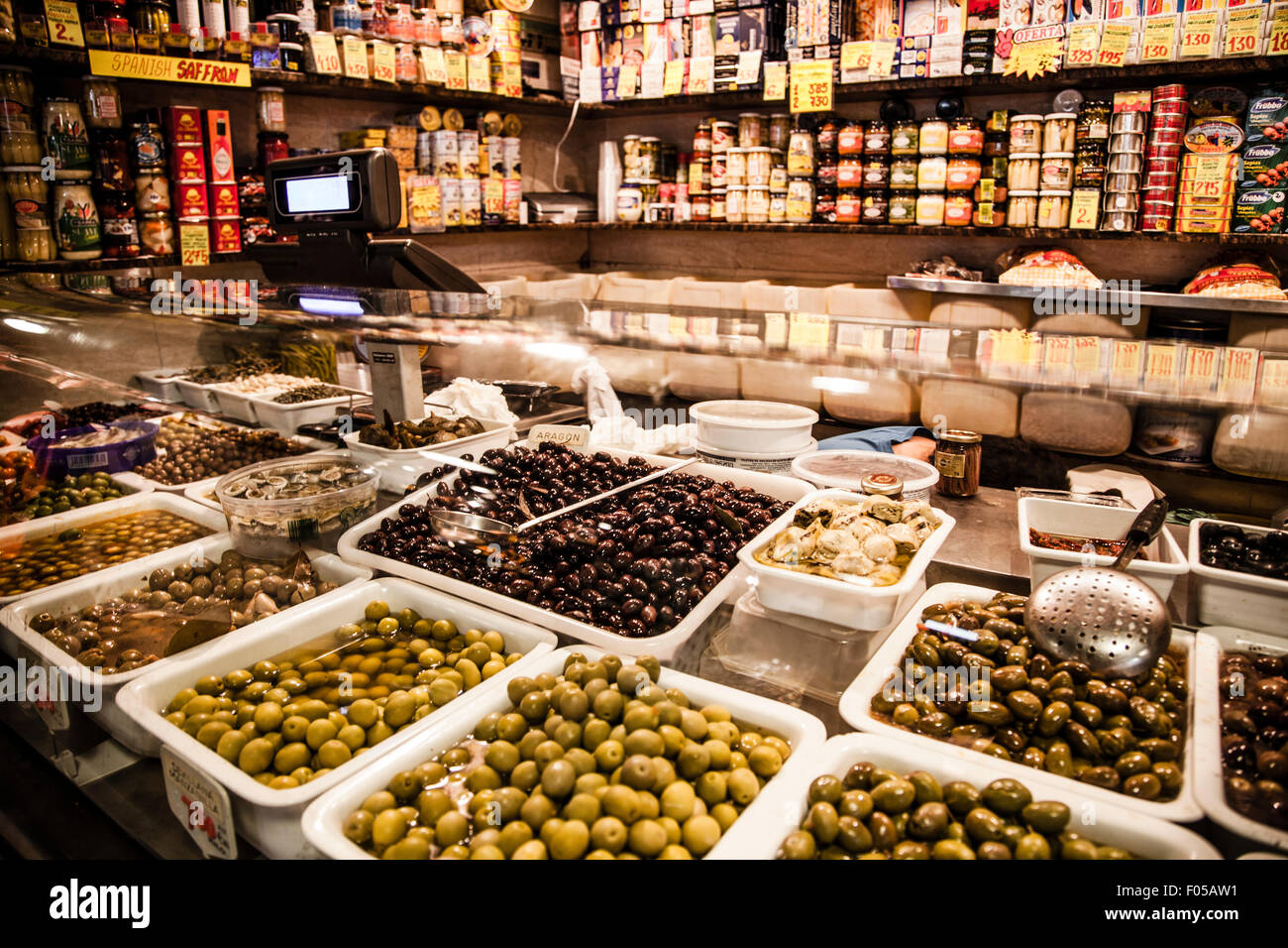 48eadbc53ea Olives shop in La Boqueria market