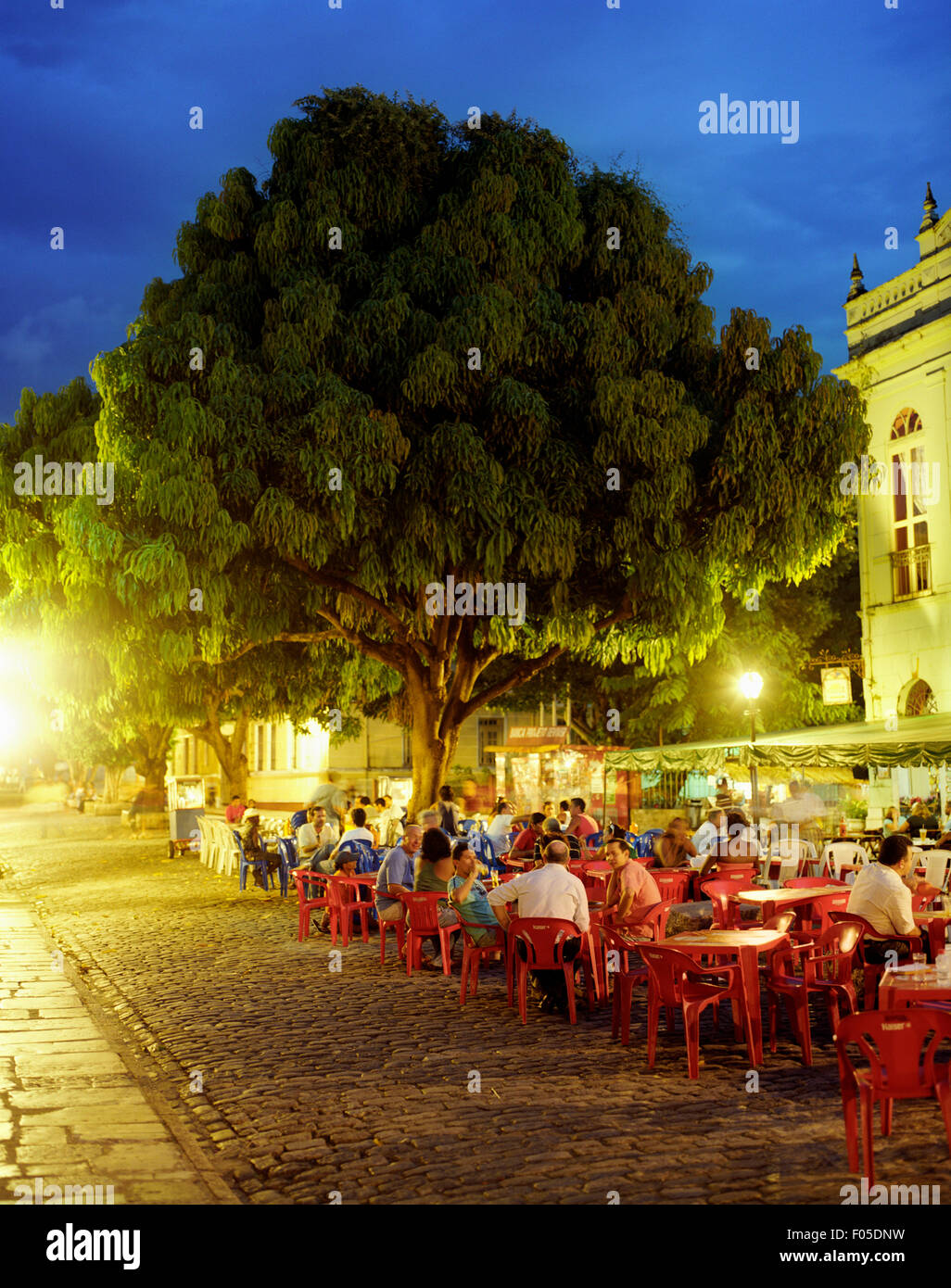 An interior view of Restaurante Antigamente.  Sao Luis, Brazil - Stock Image