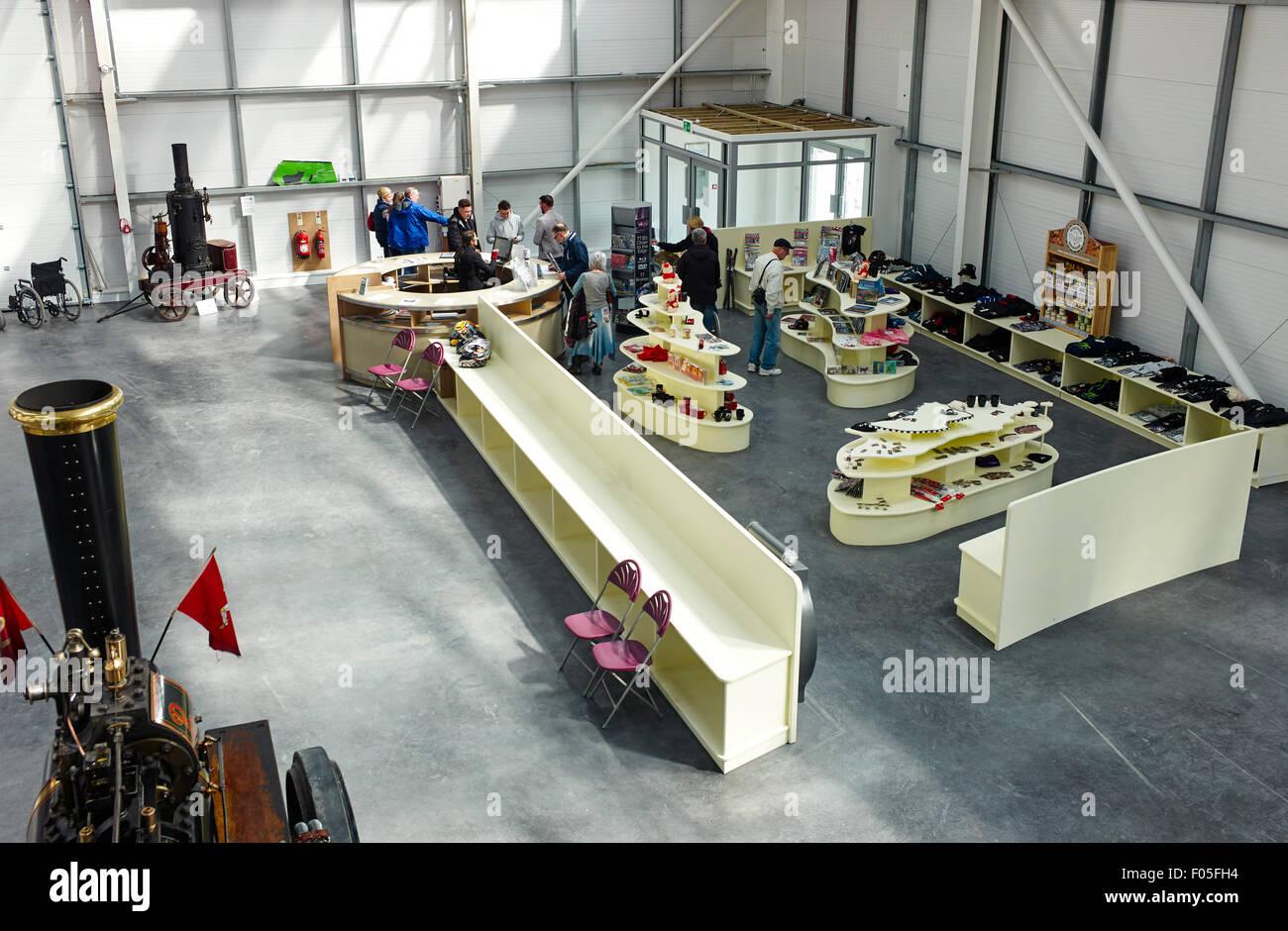 Manx motor museum shop - Stock Image