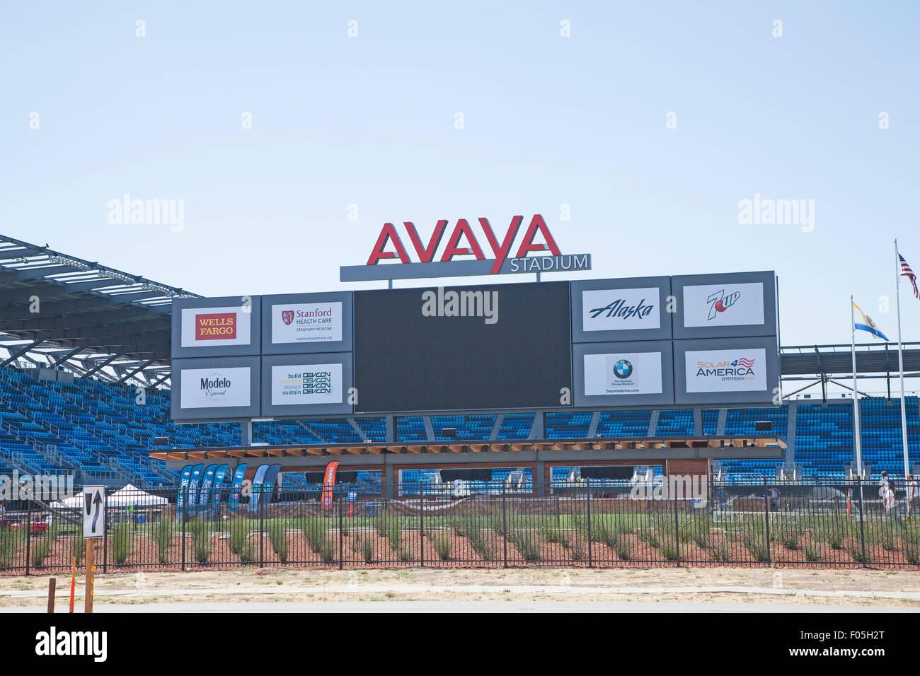 Avaya Stadium in San Jose, CA. - Stock Image