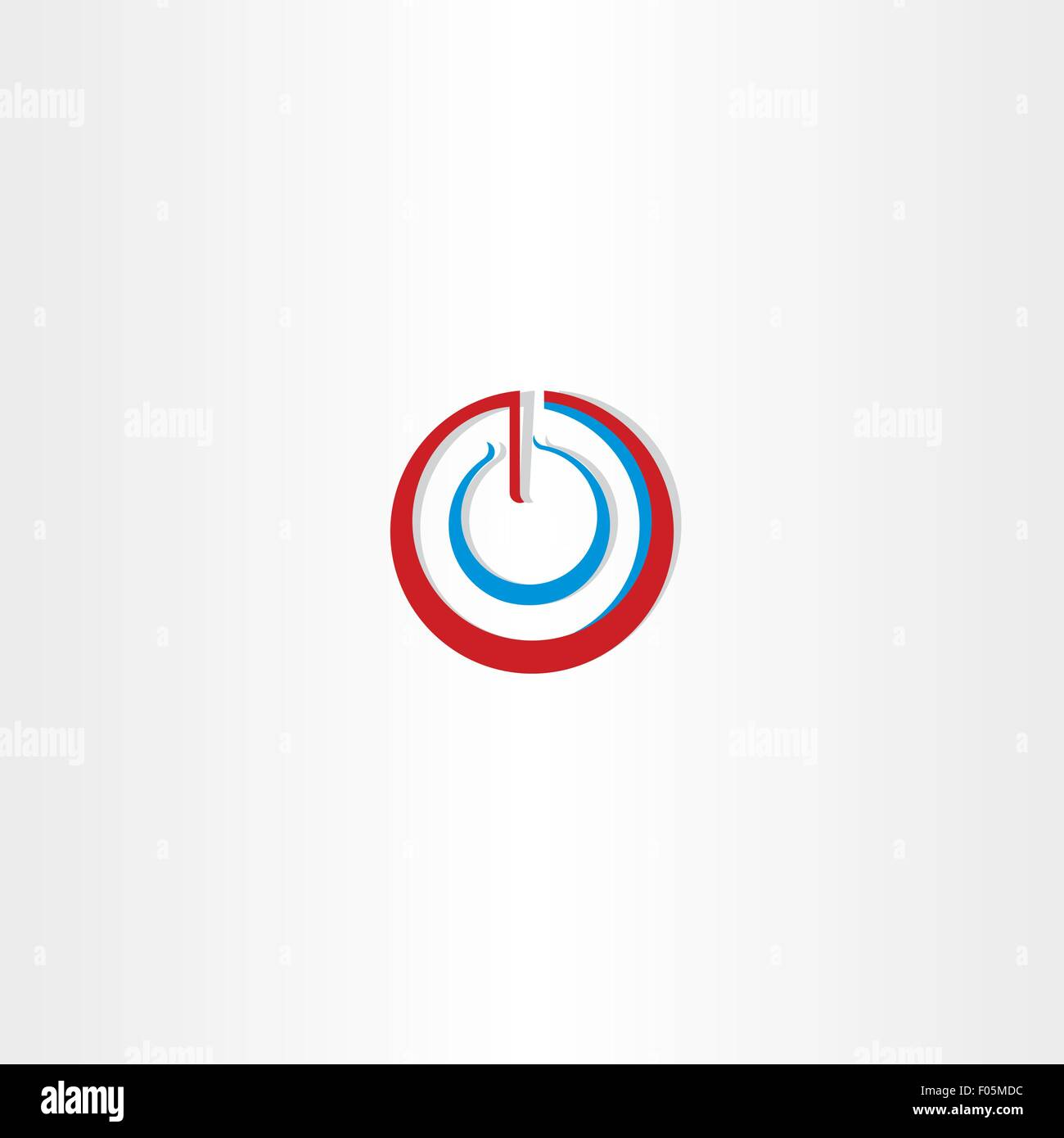 Power On Off Stylized Symbol Design Stock Vector Art Illustration