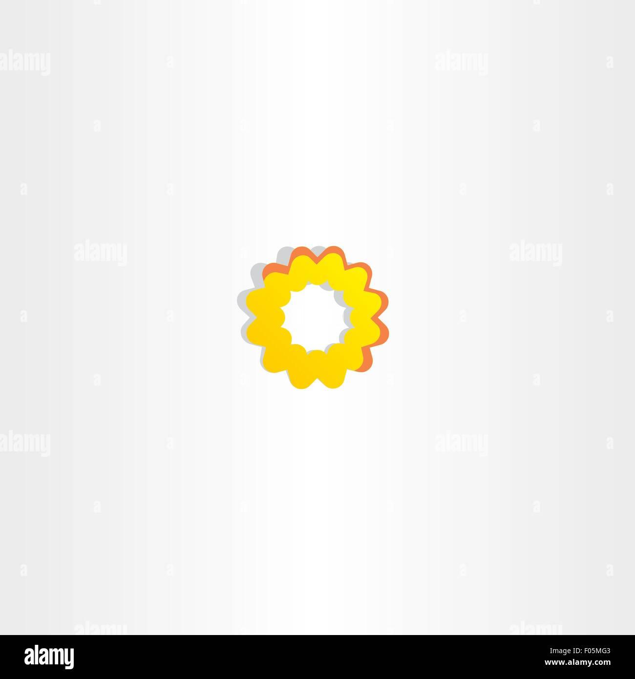Sun Icon Abstract Yellow Flower Symbol Sign Stock Vector Art