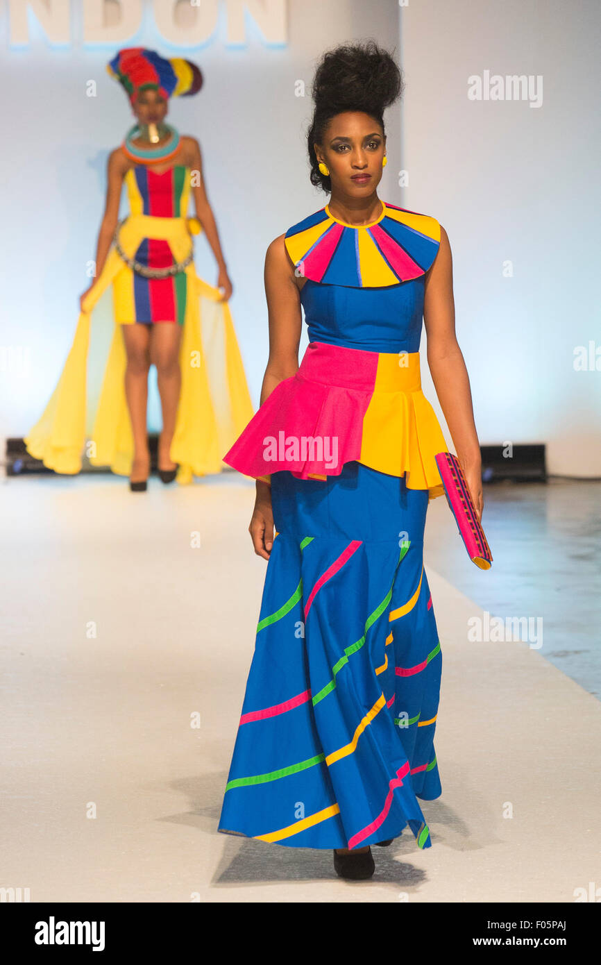 London Uk 7 August 2015 Runway Show By Kzn Fashion Council The Stock Photo Alamy