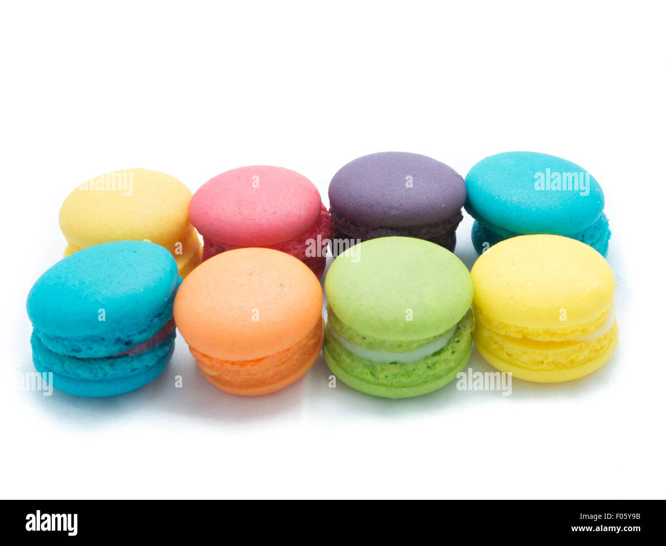 Mini Multi-Colored Macaroon - Stock Image