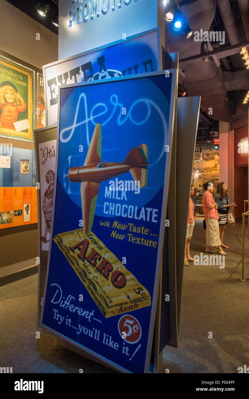 Hershey story museum on chocolate avenue PA - Stock Image