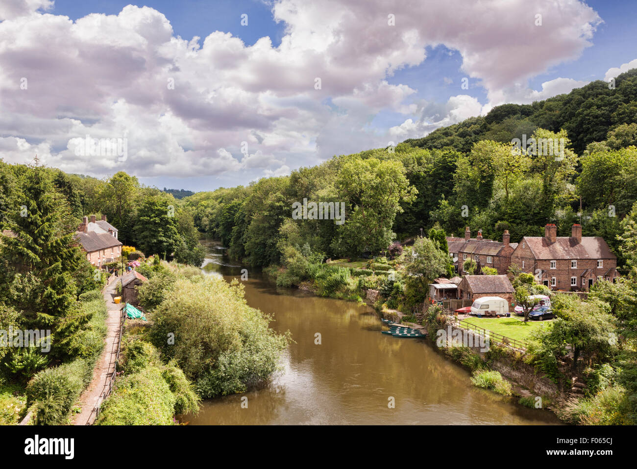 The River Severn at Ironbridge, Shropshire, England - Stock Image