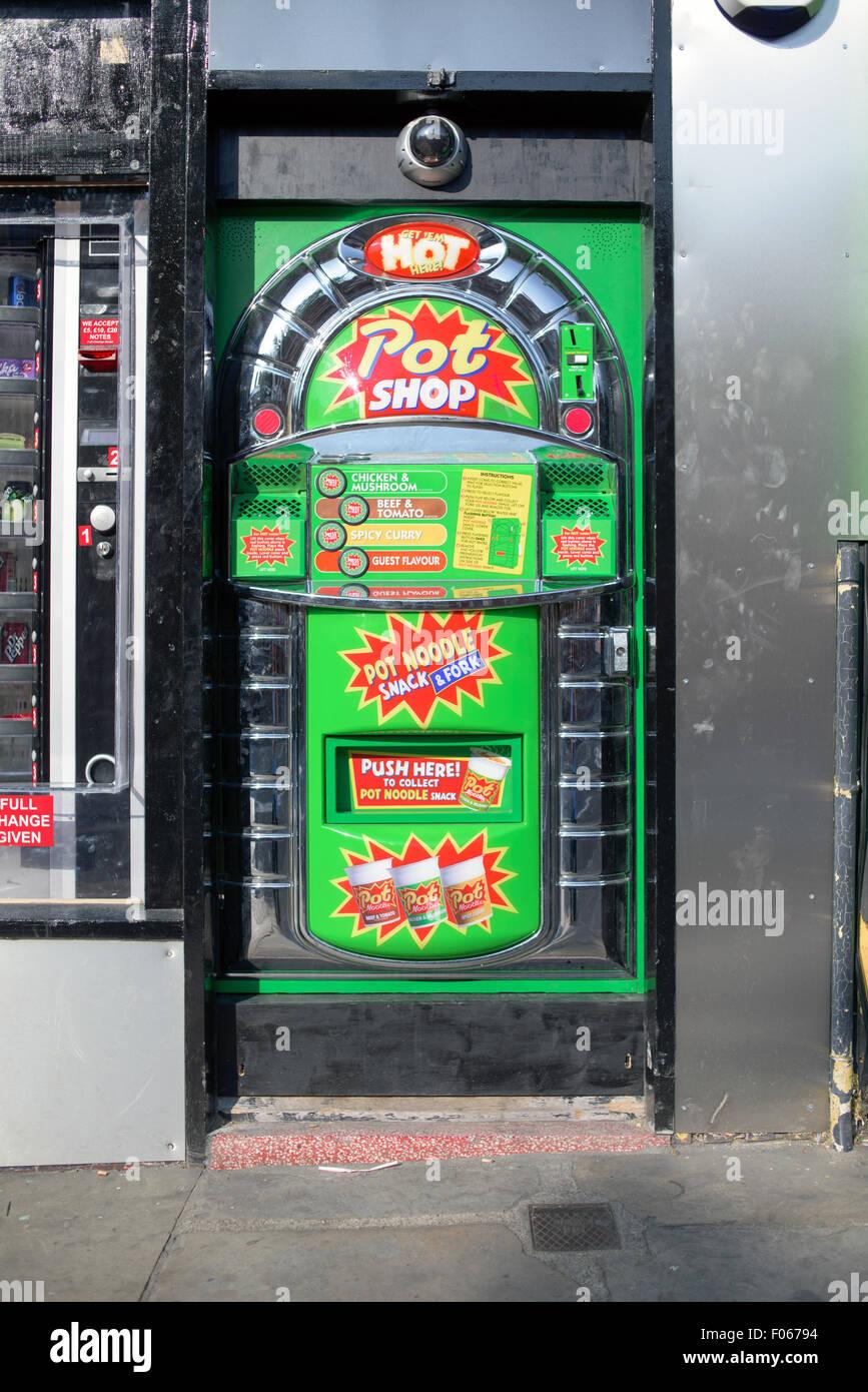 pot noddle vending machine mansfield road nottingham stock photo