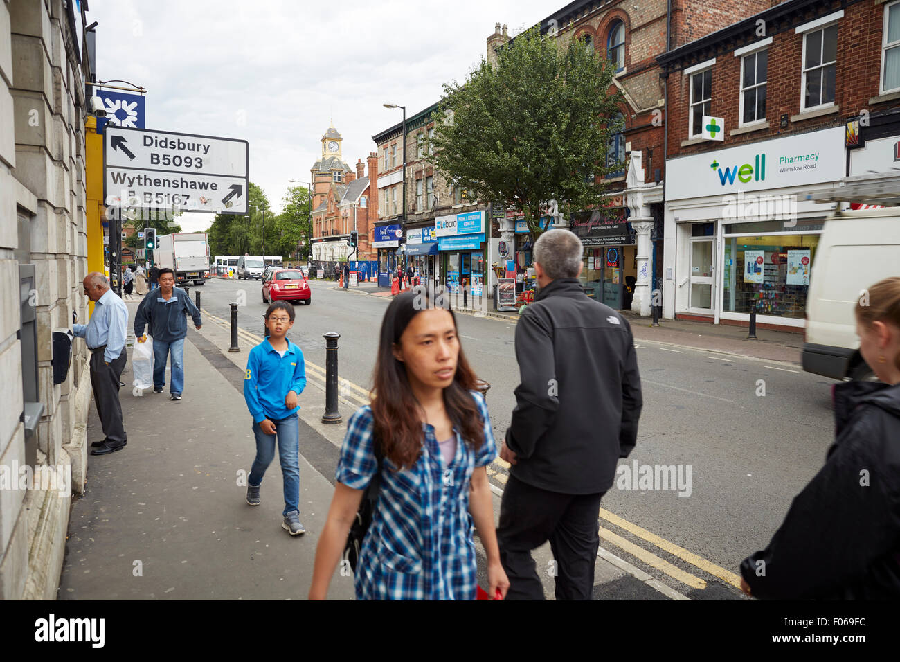 withington Village South Manchester   Shops shopping shopper store retail supermarket retailer retailers traders - Stock Image
