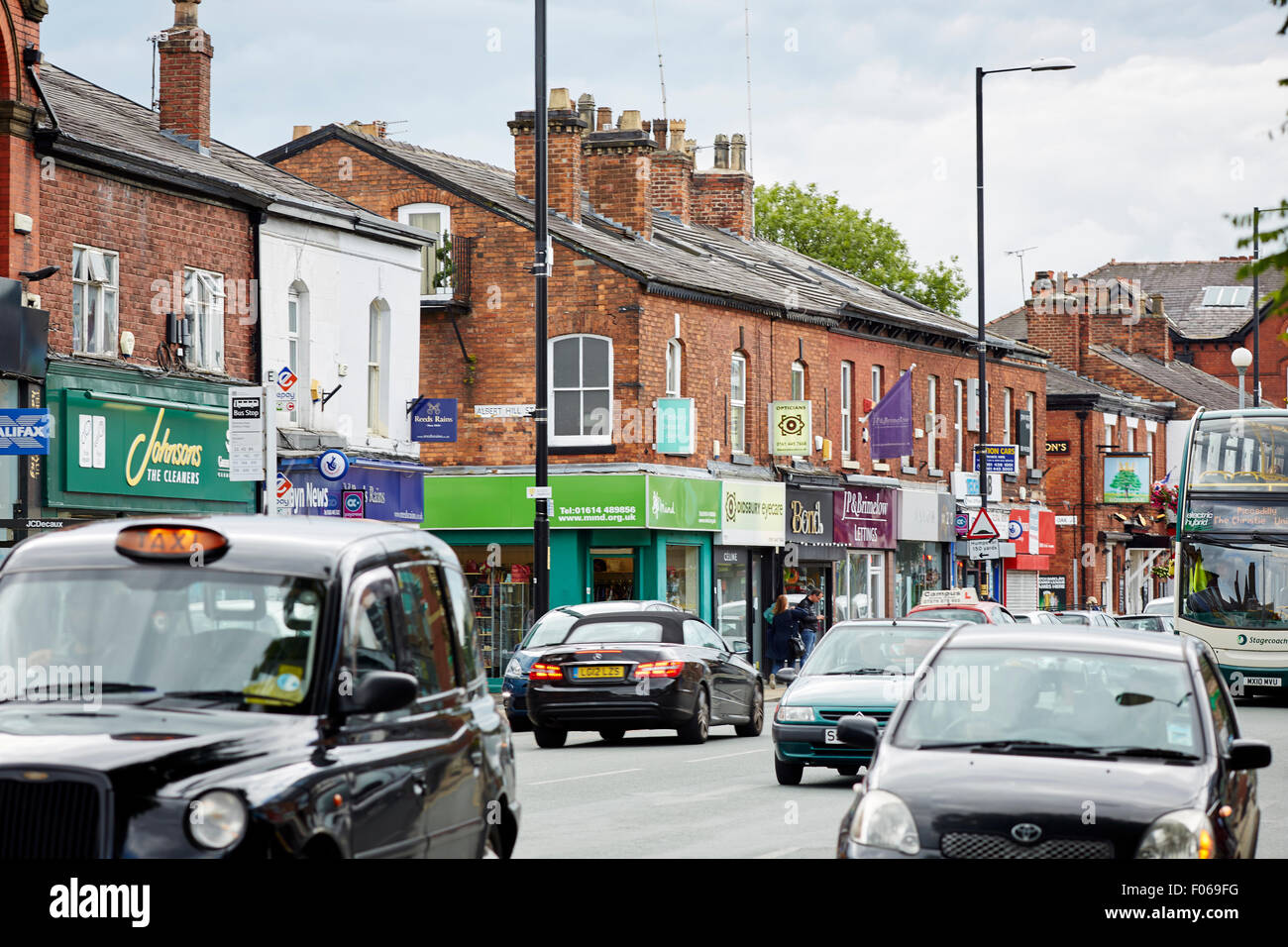 Didsbury Village South Manchester   Shops shopping shopper store retail supermarket retailer retailers independent - Stock Image