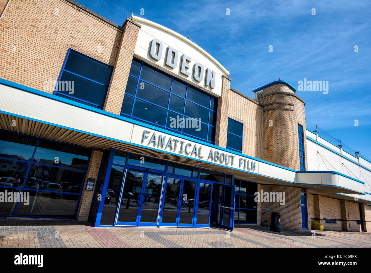 Outside of an Odeon Multiplex Cinema complex in Blackpool, Lancashire, UK - Stock Image