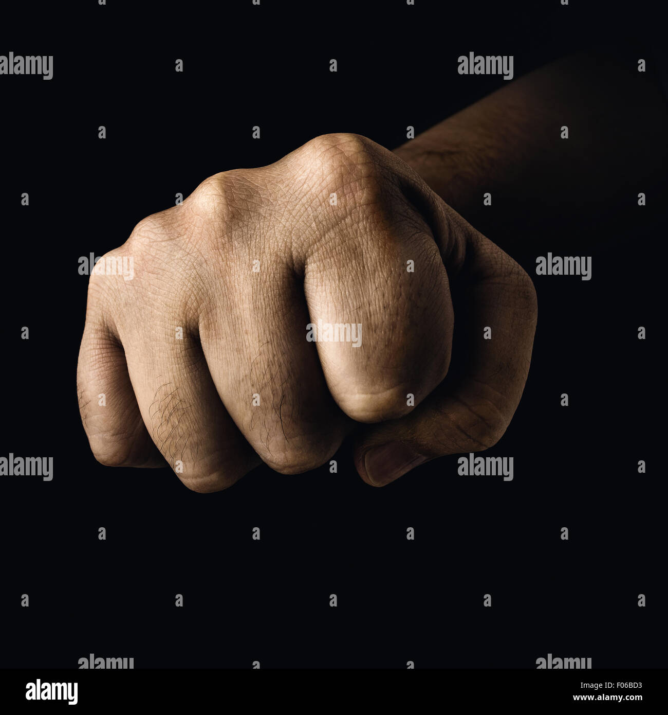Closed fist in a concept of fight sports. - Stock Image