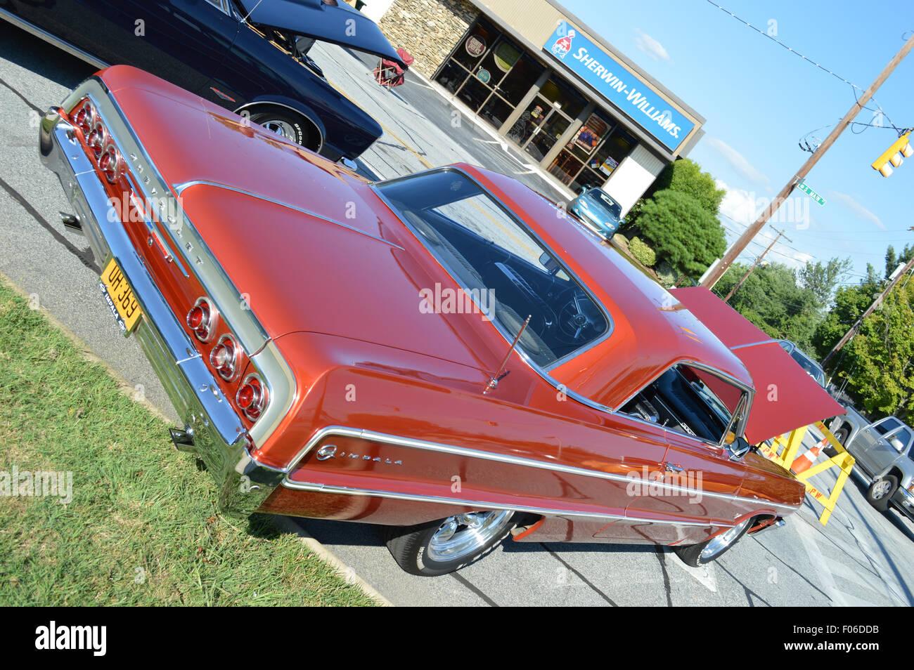 A 1964 Chevrolet Impala Hard Top car. - Stock Image