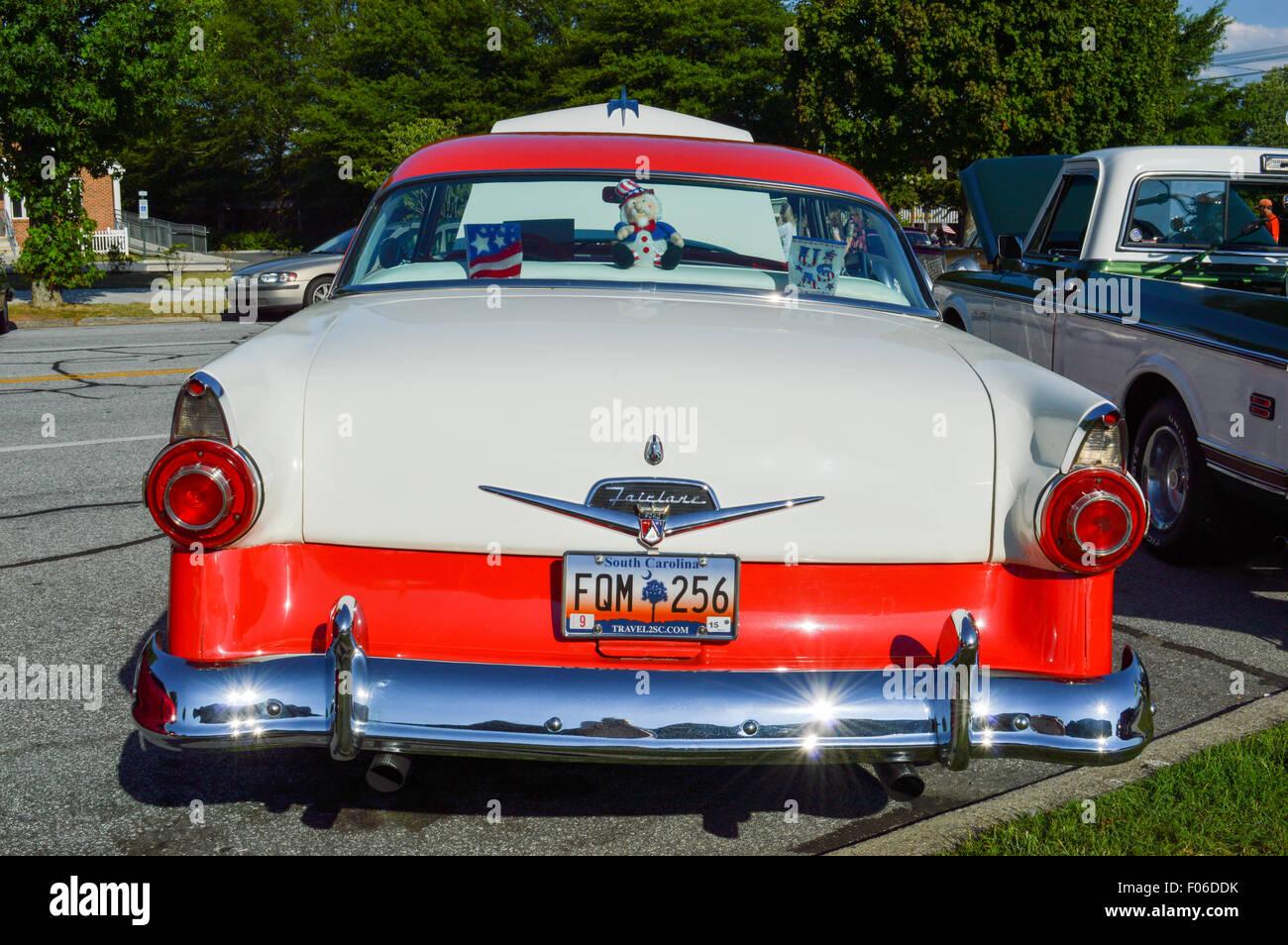 A 1956 Ford Fairlane Victoria Hard Top Car - Stock Image