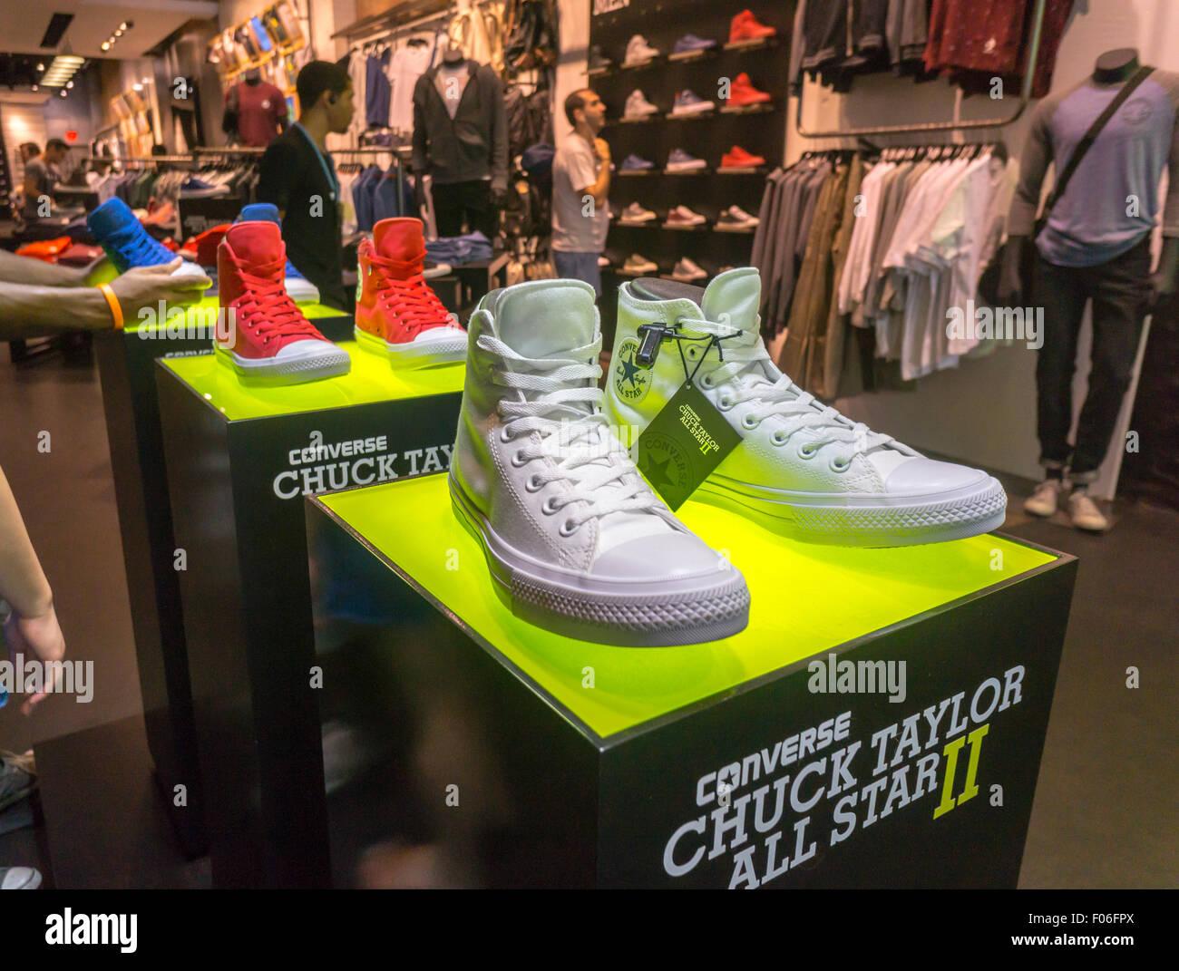 521de7ff1b3f64 The newly re-designed Chuck Taylor All Star II Converse sneaker in the Converse  store