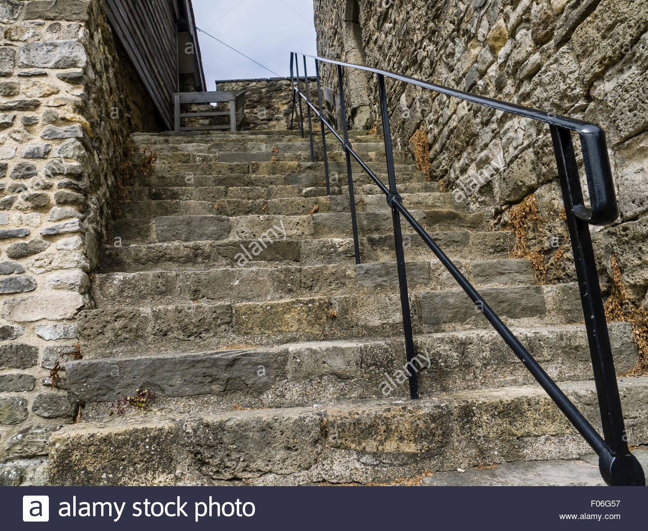 Southampton Hampshire England Steps leading to the wall ramparts - Stock Image