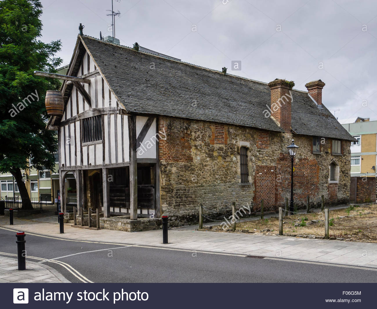 Southampton Hampshire  Medieval Merchant's House Barrel Wine - Stock Image