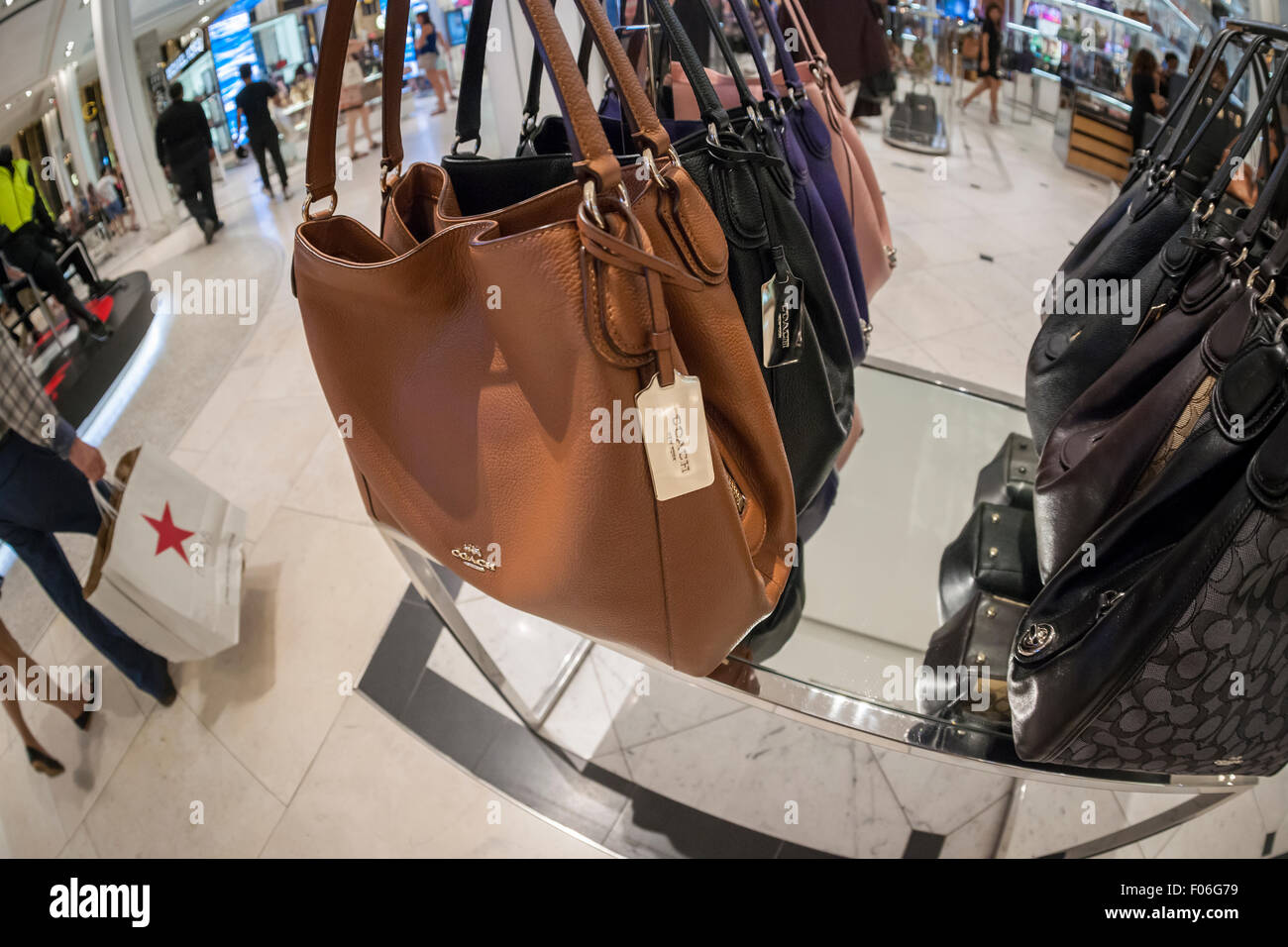 30b417229f Coach handbags on display at the Coach boutique within Macy s in New York  on Tuesday
