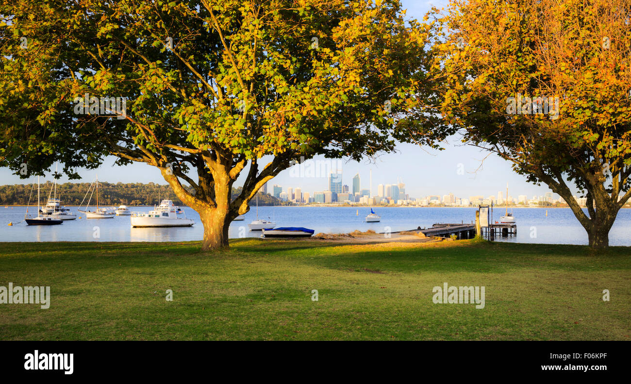 Matilda Bay Reserve on the Swan River. - Stock Image