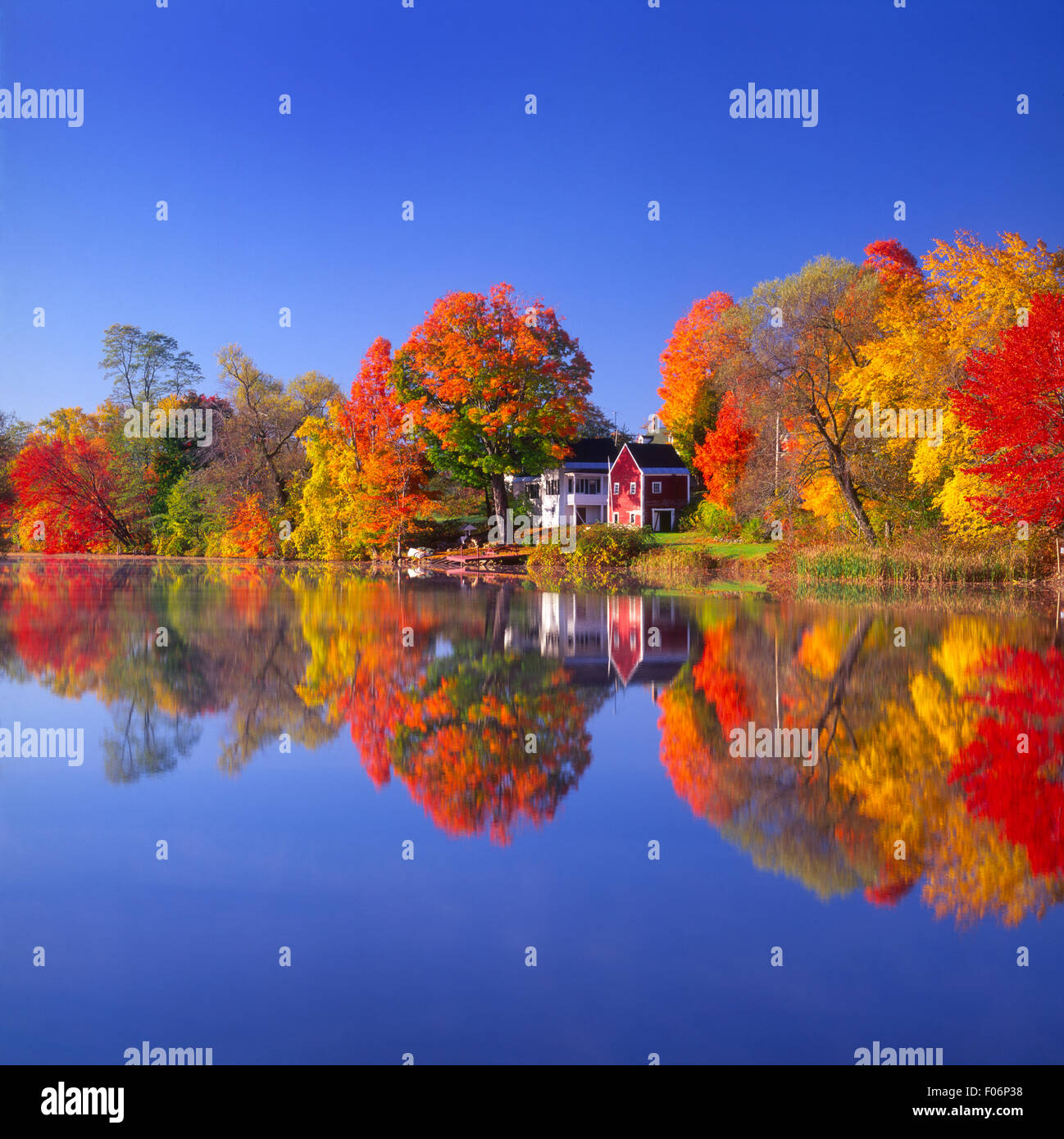 Highland Lake in East Andover, NH USA - Stock Image