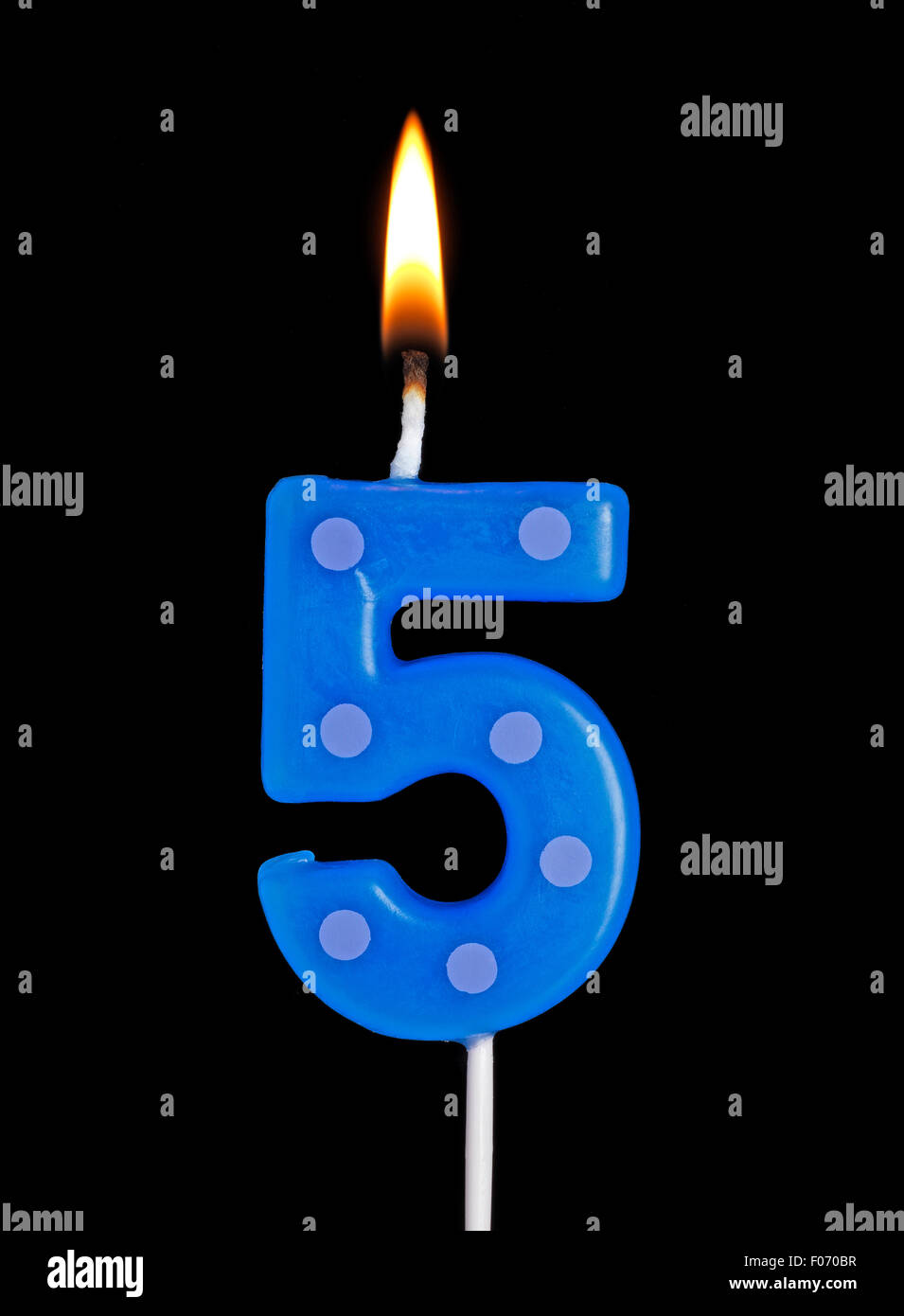 5 Number Candle Stock Photos Images