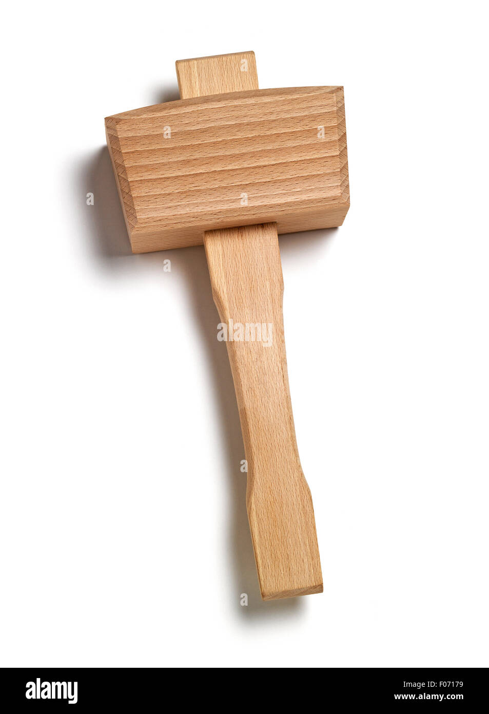 Isolated mallet for woodworking - Stock Image