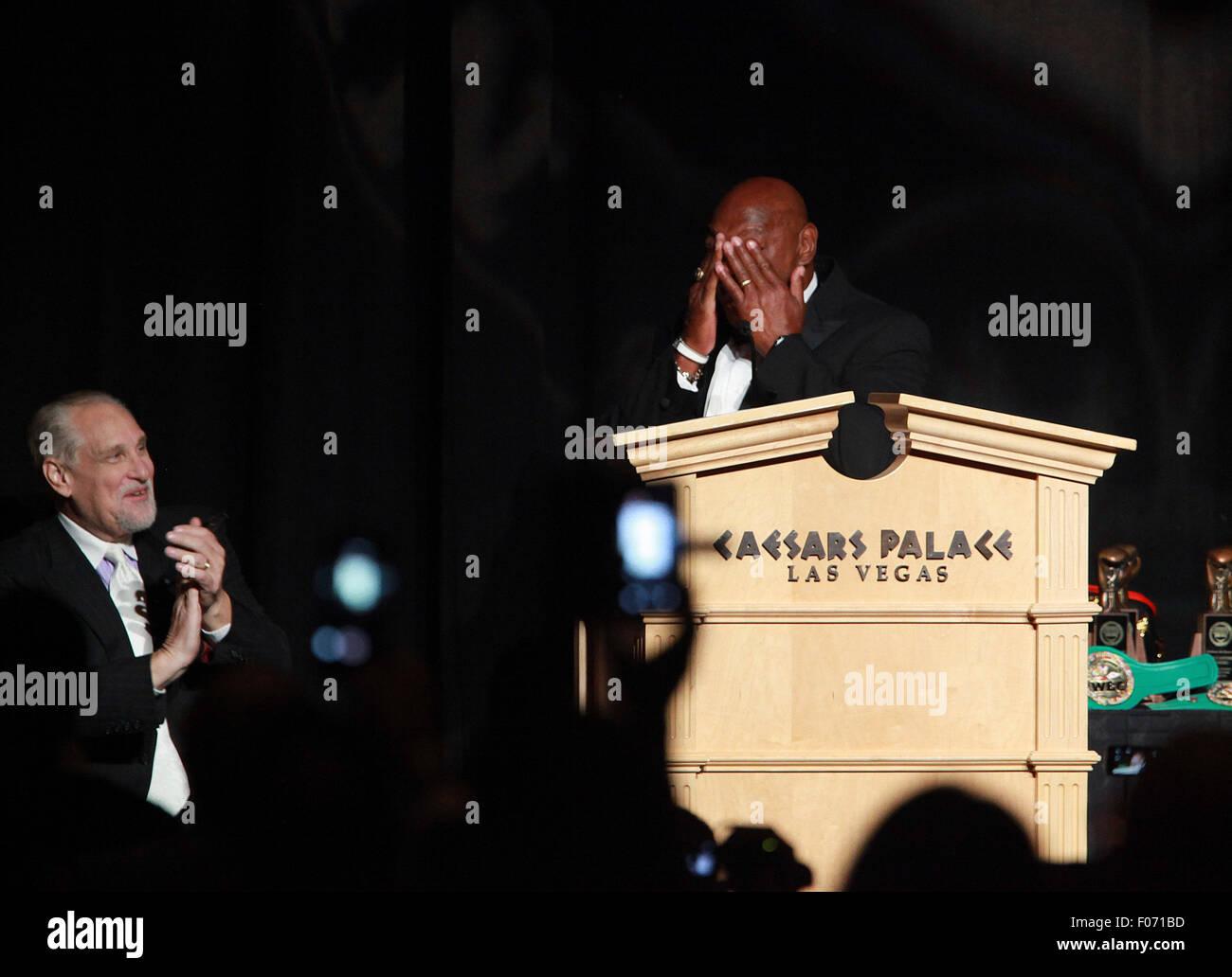 Las Vegas, Nevada, USA. 9th Aug, 2015. Former world boxing champion Marvin ''Marvelous'' Hagler - Stock Image