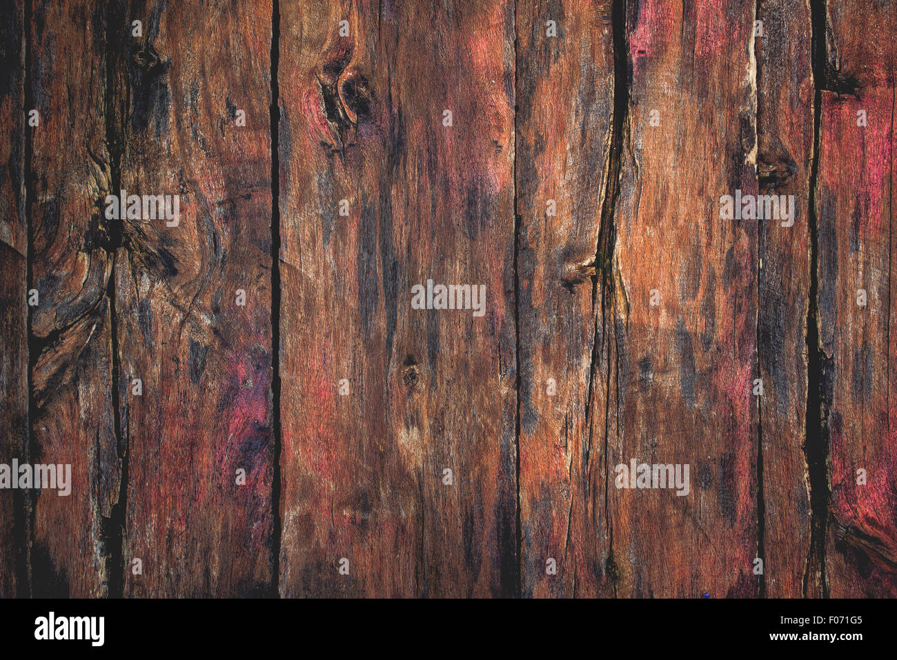 Rustic wood surface texture, old wooden planks as background - Stock Image