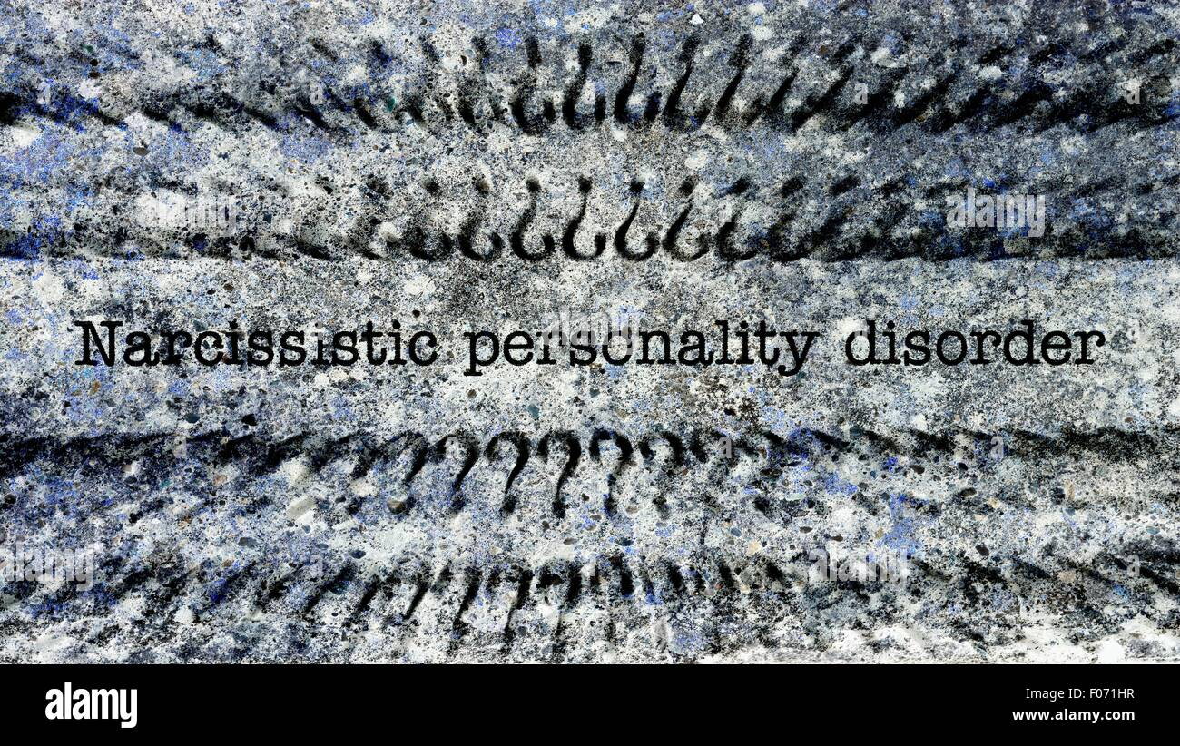 Narcissistic personality disorder concept on grunge background - Stock Image