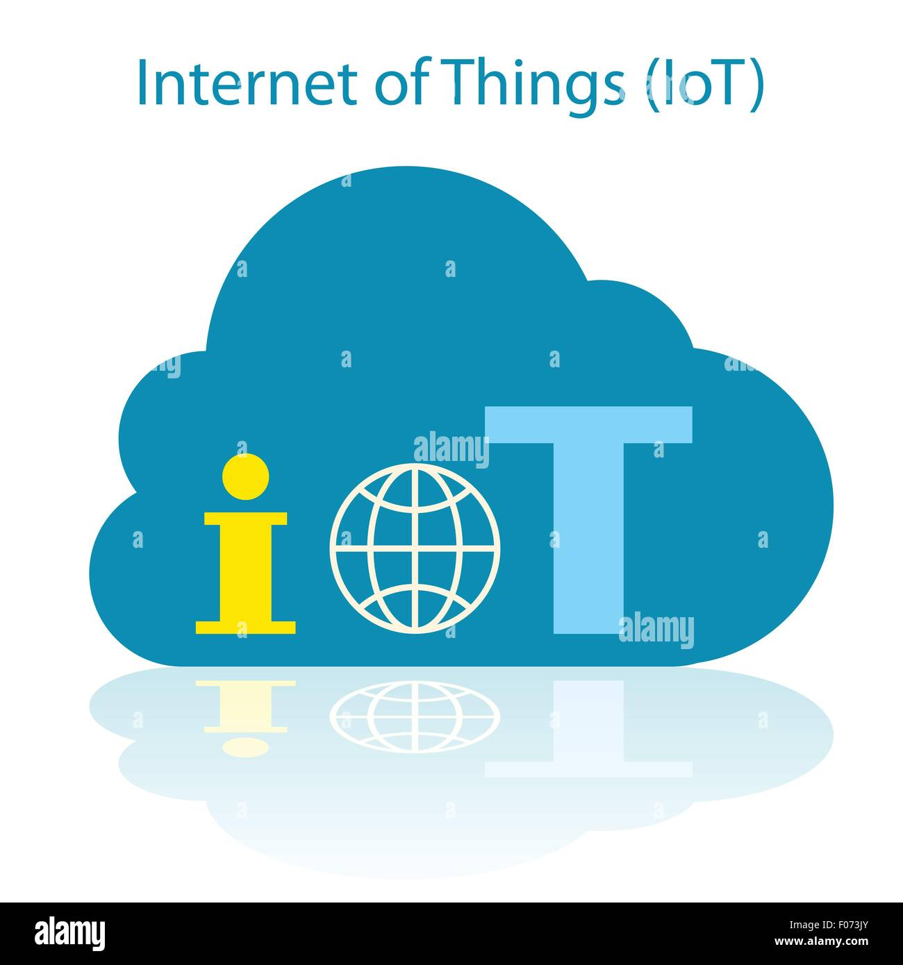 Internet of Things cloud icon vector illustration. - Stock Image