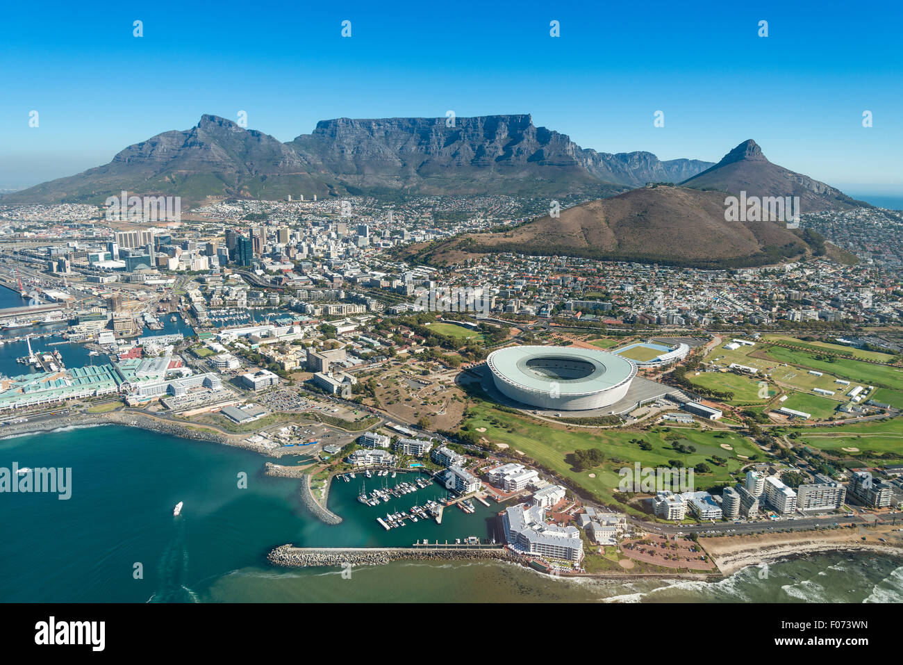 Aerial view of Cape Town, Western Cape Province, Republic of South Africa - Stock Image