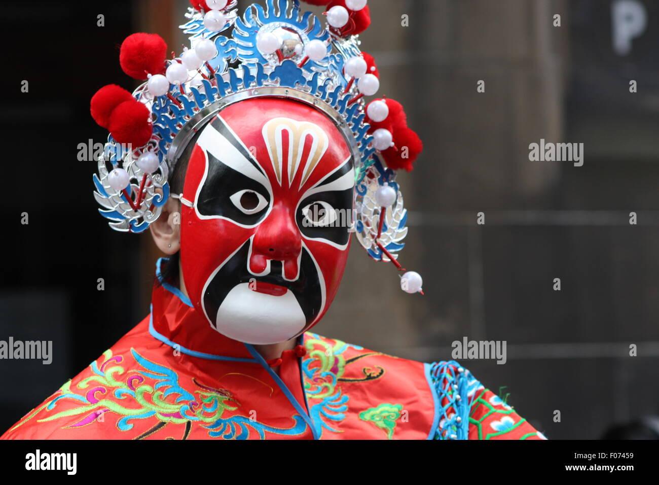 Performer on the Royal Mile, Edinburgh - Stock Image